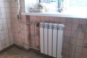 Примеры работ по установке радиаторов отопления