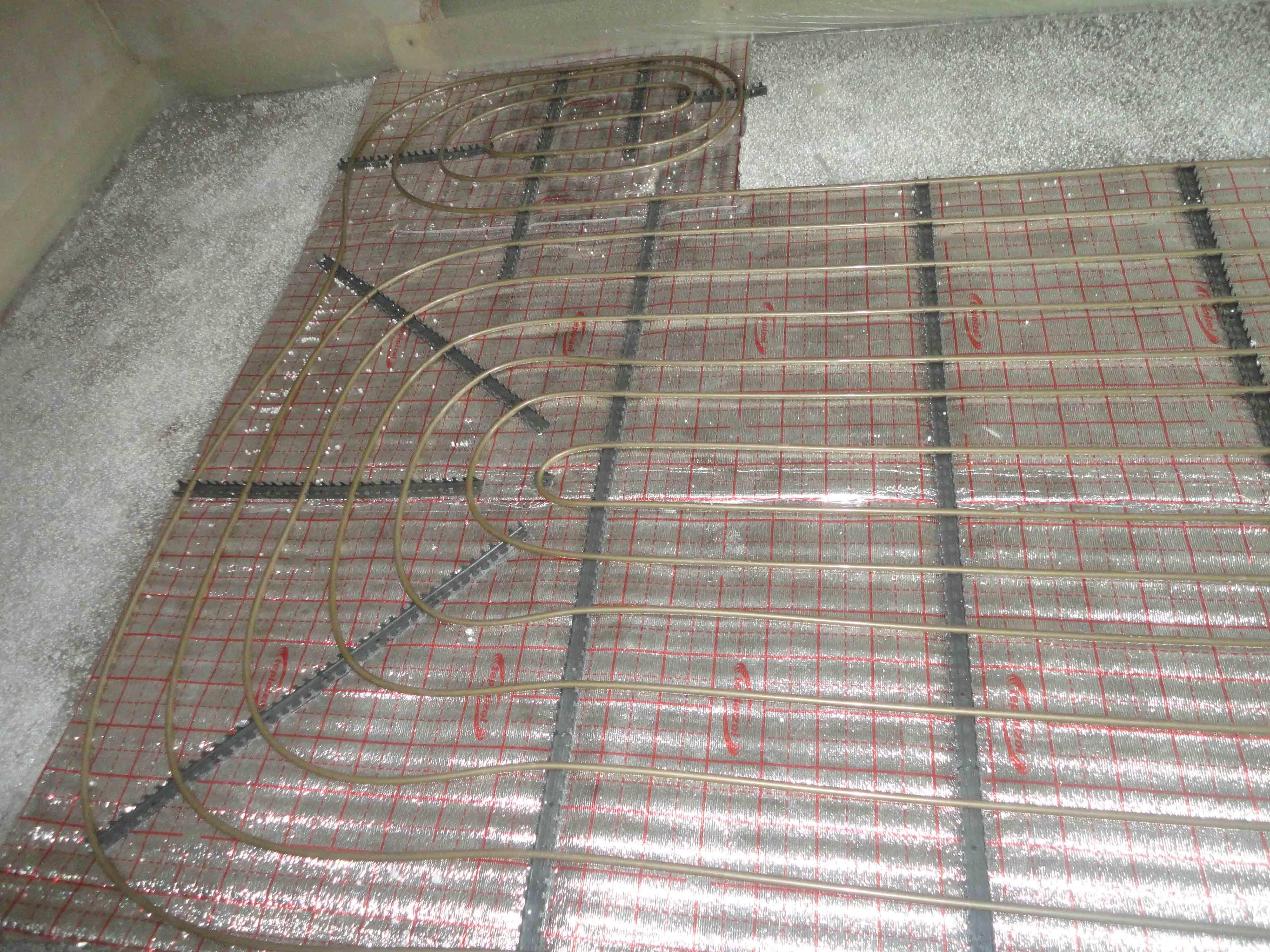 Примеры работ по монтажу теплого пола